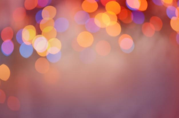 Abstrait bokeh. lumières de bokeh défocalisés