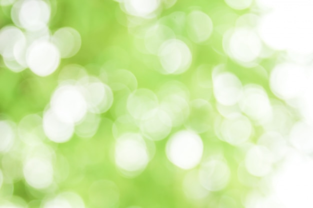Abstrait bokeh vert naturel