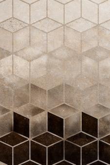Abstrait brun cubique à motifs