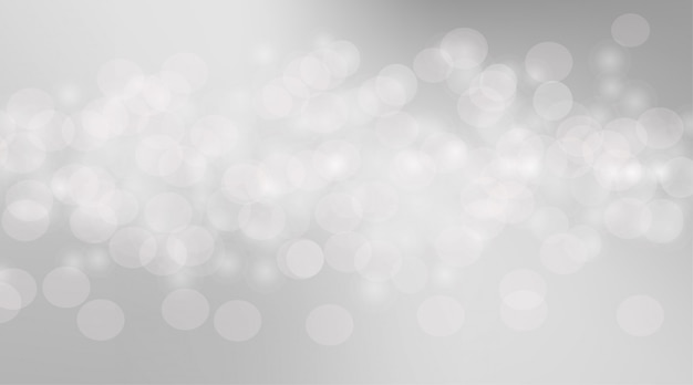 Abstrait bulles bokeh floue. bulles gris doux pour le graphisme. fond gris avec cercle bokeh doux. papier peint doux bokeh flou gris clair.