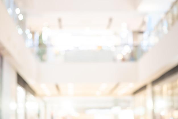 Abstrait de centre commercial défocalisé fond flou et beau bokeh.