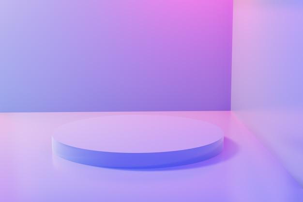 Abstrait cercle vide piédestal fond minimal