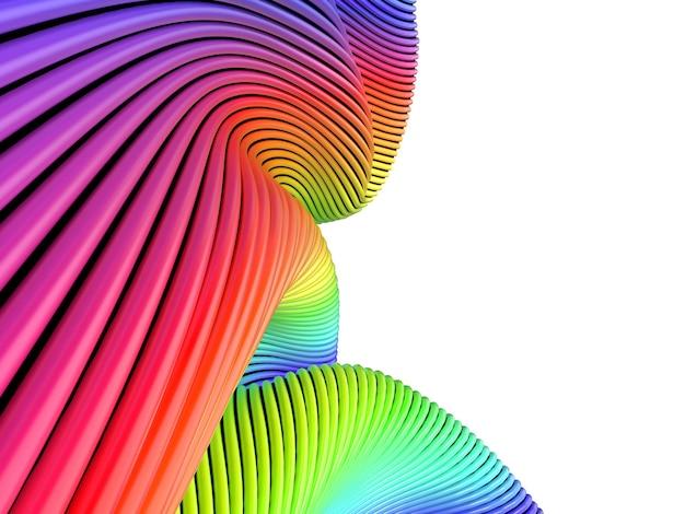 Abstrait coloré avec des bandes multicolores.