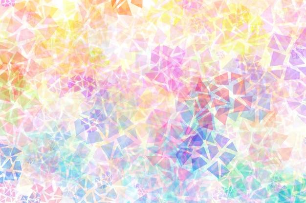 Abstrait coloré avec différentes formes chaotiques