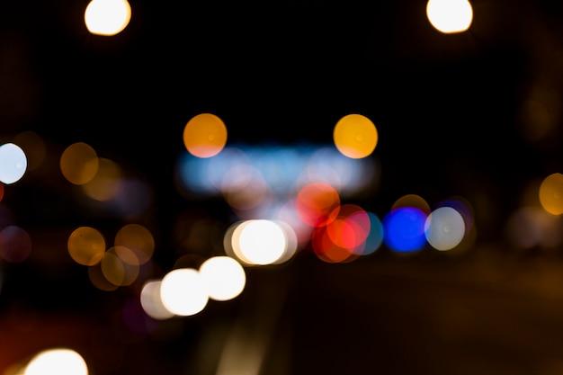 Abstrait coloré avec effet de lumières défocalisés