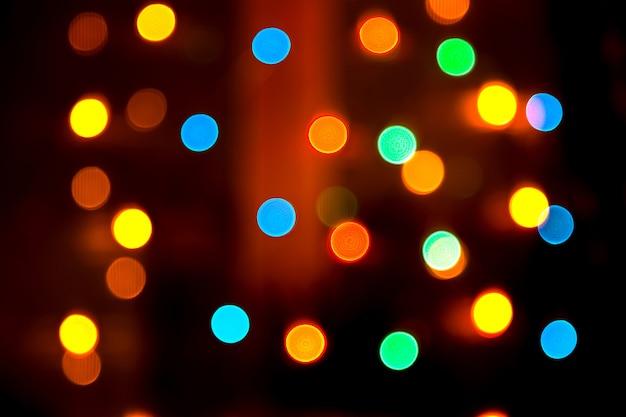 Abstrait coloré avec des lumières floues