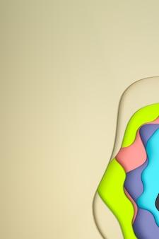 Abstrait coloré papier découpé design d'arrière-plan art pour modèle d'affiche, fond coloré, motif abstrait