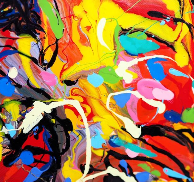 Abstrait coloré peinture à l'huile multi couleurs.