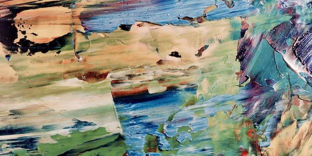 Abstrait coloré peinture à l'huile sur toile
