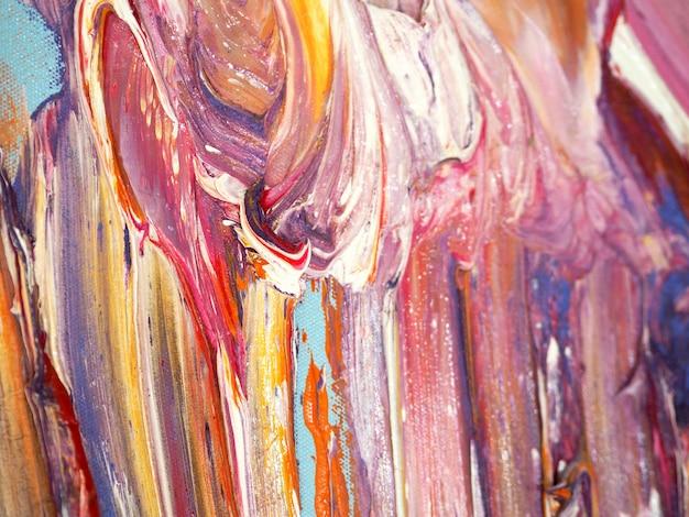 Abstrait coloré de peinture à l'huile