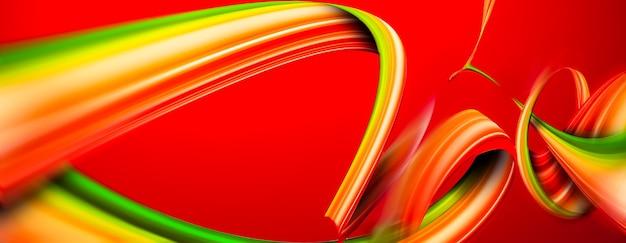 Abstrait coloré avec des rayures sur fond rouge