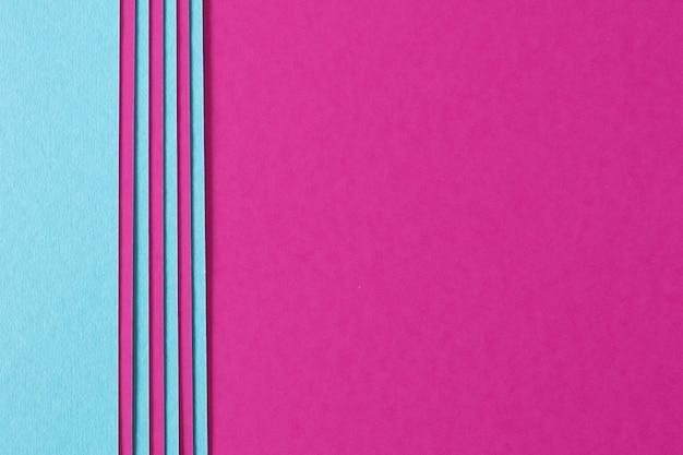 Abstrait de composition rose et bleue avec du carton de texture