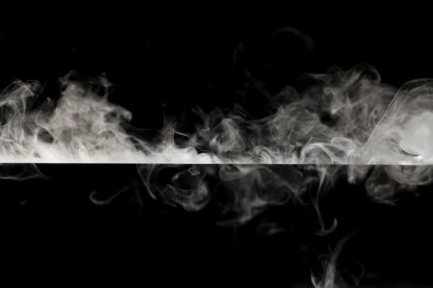 Abstrait, conception cinématographique de frontière de texture de fumée noire