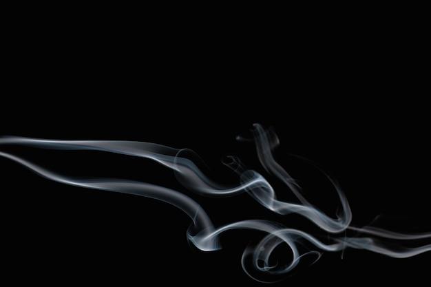 Abstrait, conception cinématographique de texture fumée noire