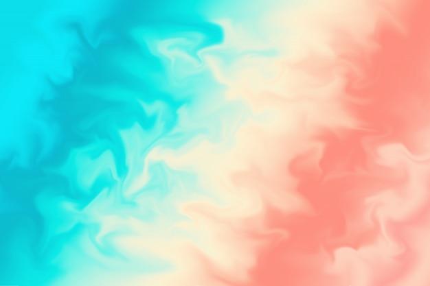 Abstrait corail et bleu