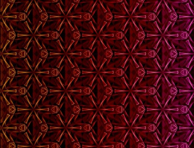 Abstrait couleur géométrique basé sur une grille hexagonale