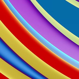Abstrait de couleur vive, formes lisses et géométrie