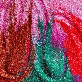 Abstrait des couleurs à paillettes