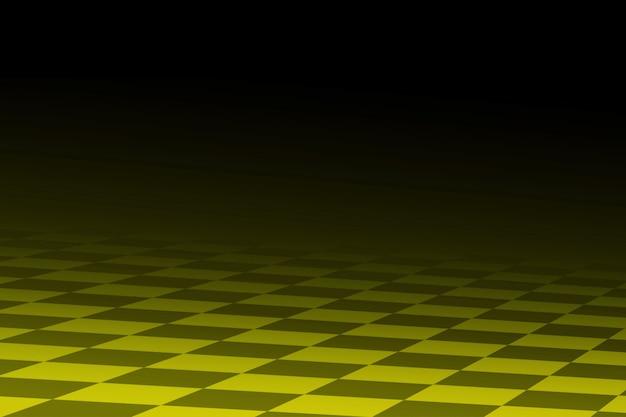Abstrait de course noir et jaune il stylisé similaire au drapeau à damier de course