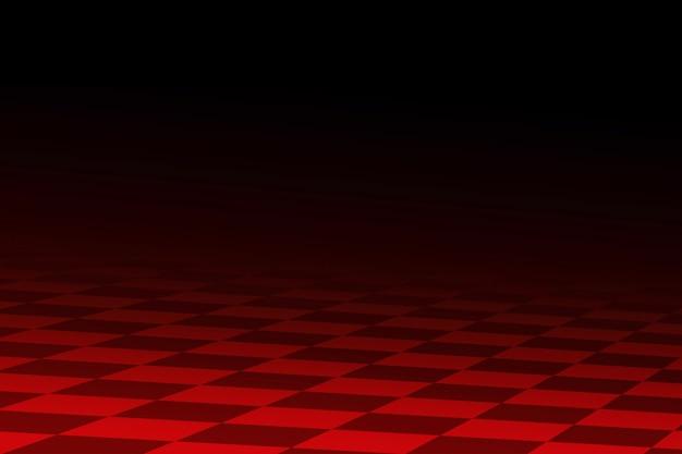 Abstrait de course noir et rouge il stylisé similaire au drapeau à damier racing