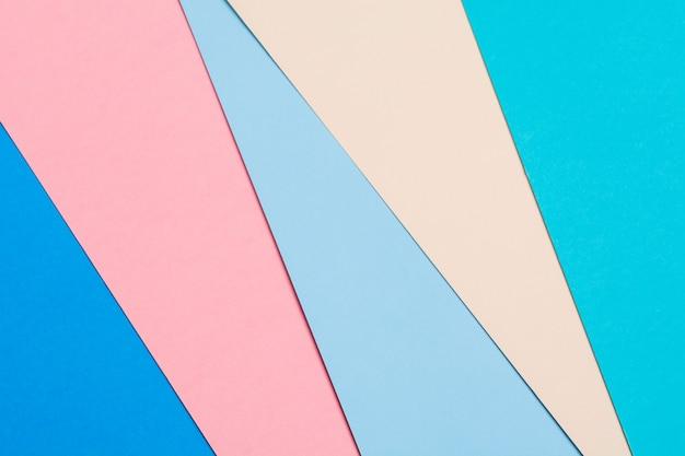 Abstrait créatif papier coloré. mise à plat