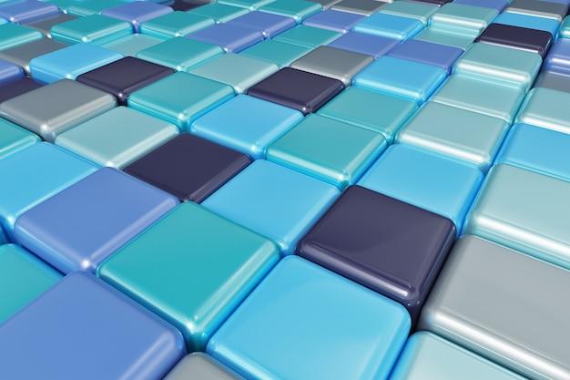 Abstrait de cubes colorés multicolores