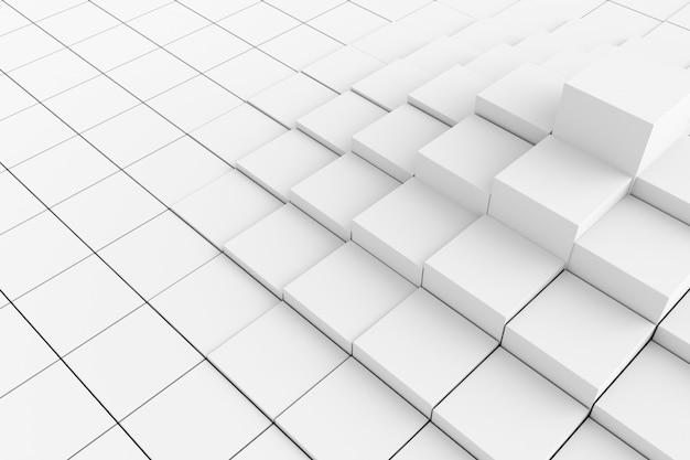 Abstrait de cubes. rendu 3d.