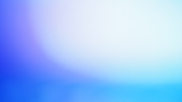 Abstrait dégradé flou. fond bleu ou bleu ciel de couleur monotone. modèle de bannière.