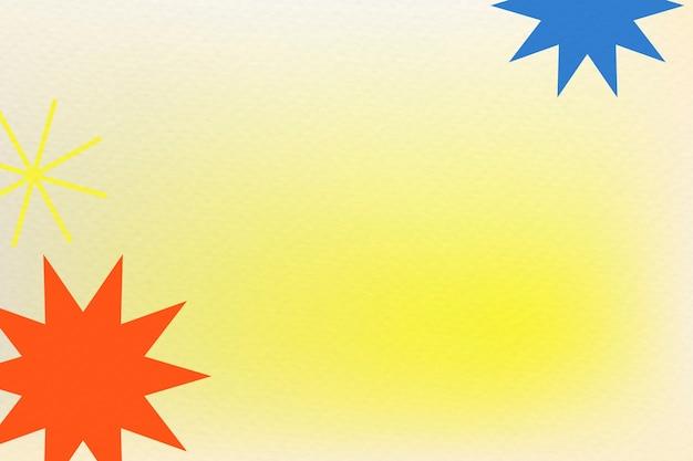 Abstrait dégradé de fond jaune memphis avec des formes géométriques