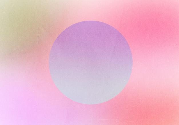 Abstrait dégradé rétro forme colorée et ronde pastel avec fond d'effet de bruit de grain, pour la conception de produits et les médias sociaux, design rétro vaporwave à la mode