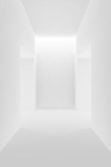 Abstrait de design d'intérieur blanc. rendu 3d.