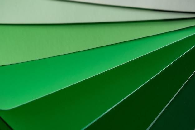 Abstrait de différentes nuances de couleurs vertes