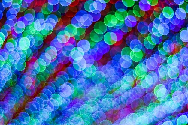 Abstrait divers bokeh flou coloré