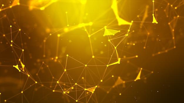 Abstrait dot et ligne de connexion pour la cyber-technologie futuriste