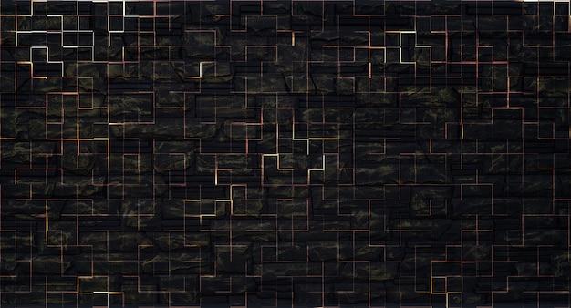 Abstrait double fond de mur de briques sombres.