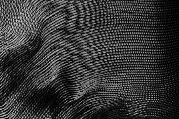 Abstrait du motif de lignes en métal noir décoré sur le mur.