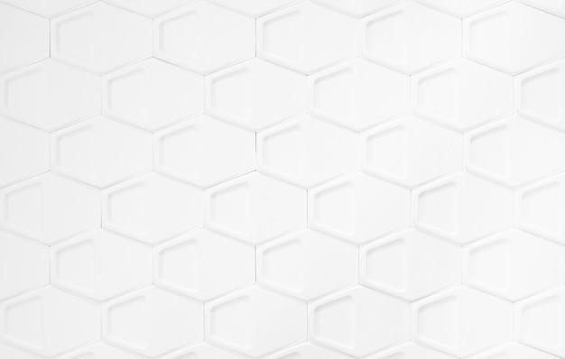 Abstrait du motif de polygones sur blanc