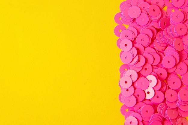 Abstrait élégant avec des paillettes paillettes saprkle rose.