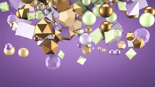 Abstrait avec des éléments. illustration 3d, rendu 3d.