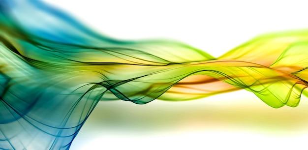 Abstrait enfumé avec des lignes lisses colorées
