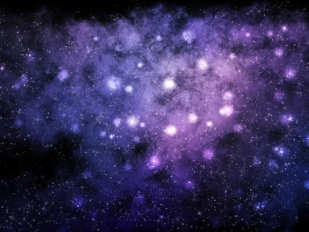 Abstrait espace avec nébuleuse et étoiles