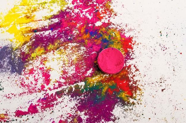 Abstrait fait de colorants indiens colorés