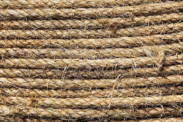 Abstrait fait avec une corde blanche
