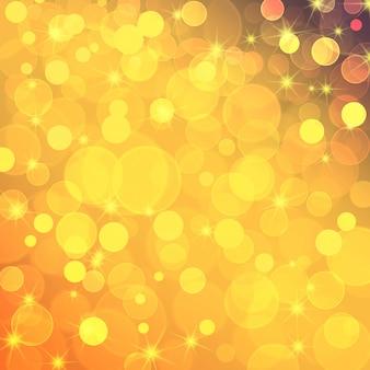 Abstrait festif jaune avec effet bokeh.