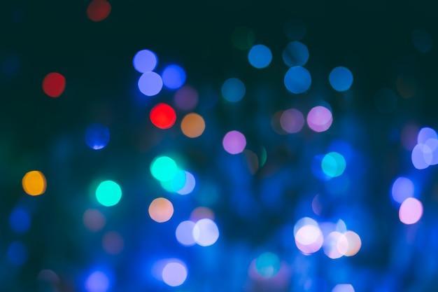 Abstrait flou ampoule bokeh fond, concept d'éclairage hiver et noël