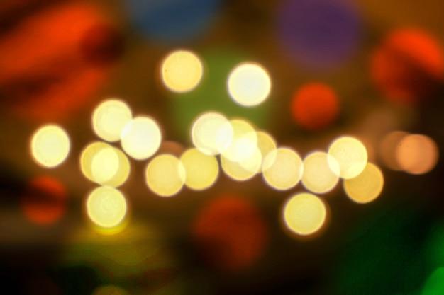Abstrait flou et bokeh d'allumer des ampoules sur fond flou.