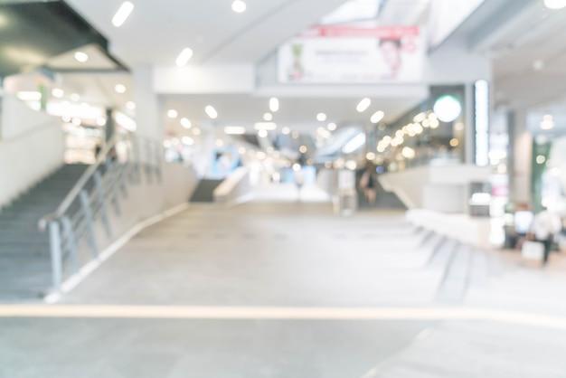 Abstrait flou et centre commercial de luxe défocalisé et magasin de détail