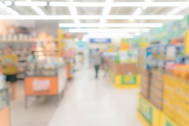 Abstrait flou centre commercial et magasin magasin intérieur
