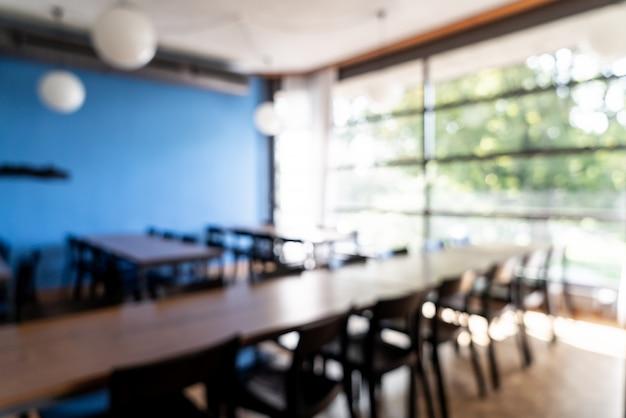 Abstrait flou et défocalisé au restaurant de l'hôtel comme arrière-plan flou