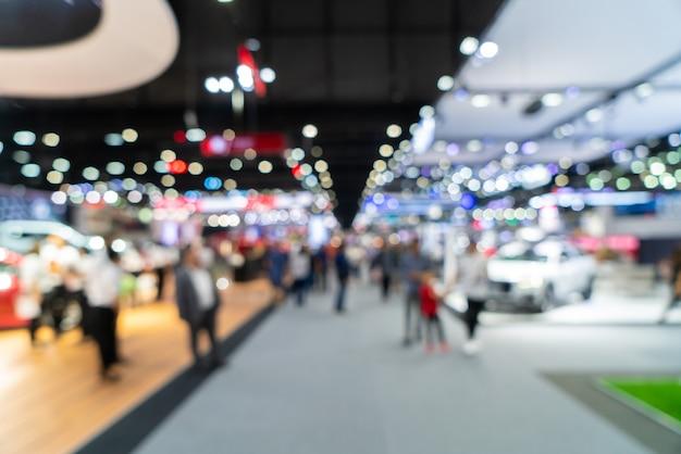 Abstrait flou défocalisé exposition événement commercial, exposition de convention d'affaires, salon de l'emploi, expo de technologie.